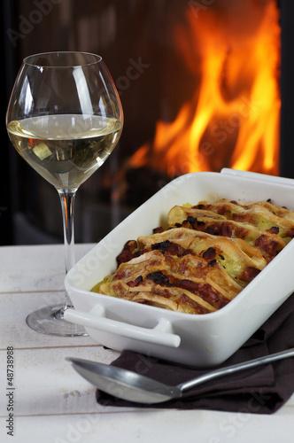 tartiflette et vin blanc au coin du feu 5