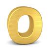 buchstabe letter O gold vertikal