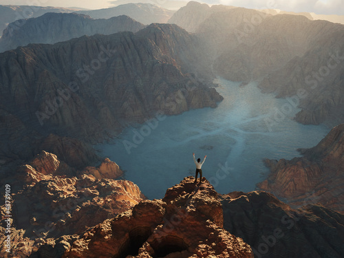 man on the edge of a cliff