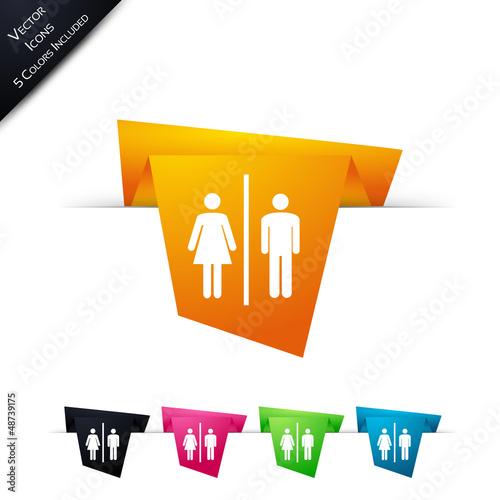 Symbole vectoriel papier origami Restroom