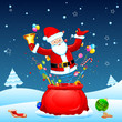 Santa poing from Sack
