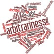 Word cloud for Arbitrariness