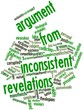 Word cloud for Argument from inconsistent revelations