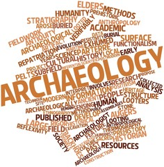 Word cloud for Archaeology