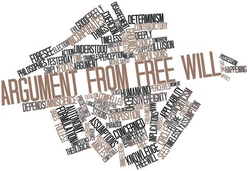 Word cloud for Argument from free will