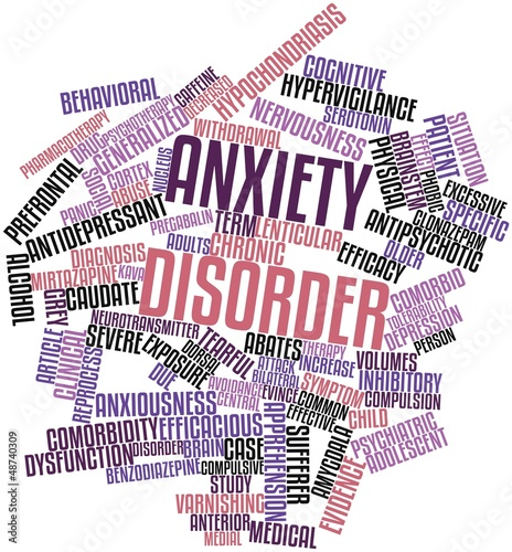 Word cloud for Anxiety disorder