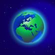 Erde im Raum, Vektor