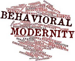 Word cloud for Behavioral modernity
