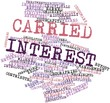 Word cloud for Carried interest