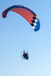 Paramotor is flying
