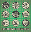 Vector Set: Baseball World Champion Labels and Icons