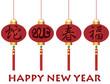 Happy Chinese New Year Snake Lanterns Illustration