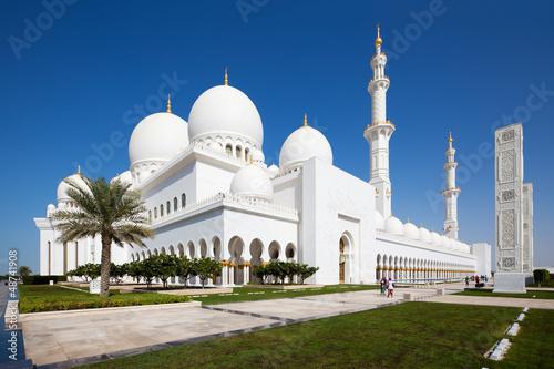 Fotobehang Dubai Sheikh Zayed Moschee in Abu Dhabi