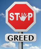 stop greed poster