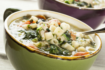 Healthy Spinach and Chicken Soup