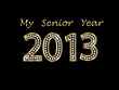 Graduate 2013 senior year in gold