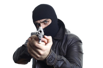Robber in balaclava