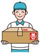 荷物を届ける宅配の男性