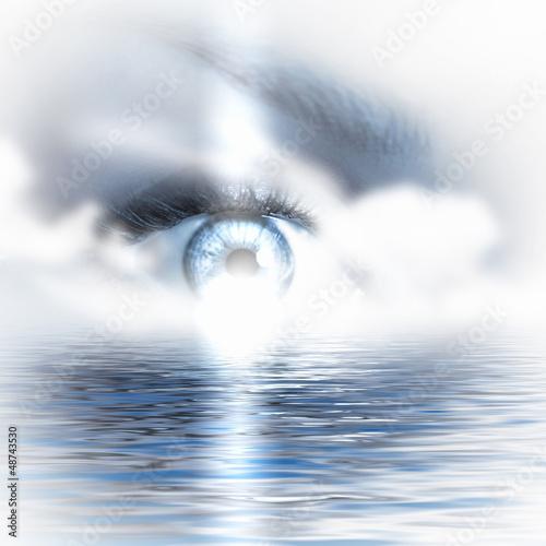 Eye overlooking water scenic