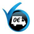 livraison gratuite sur bouton validé bleu