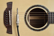 Acoustic Guitar and Cable Cord