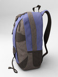 Blue travel backpack