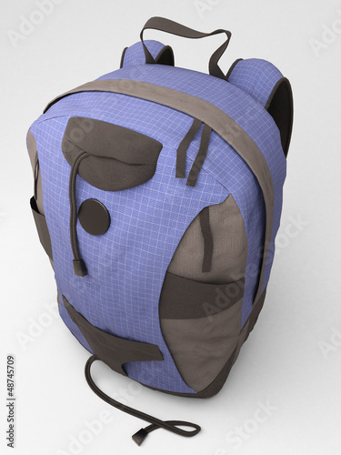 Blue travel backpack