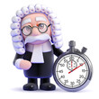 Judge counts the minutes