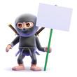 Ninja protestor