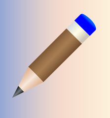 Brown round a pencil.