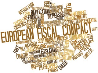 Word cloud for European Fiscal Compact