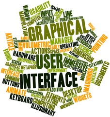 Word cloud for Graphical user interface