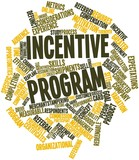 Word cloud for Incentive program poster