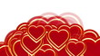 Flying hearts, valentine's day, wedding background, alpha matte