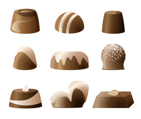 Chockolate bonbon sweetie set