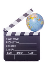 world film movie clapper cutout