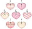 Pink textured hearts