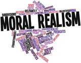 Word cloud for Moral realism poster