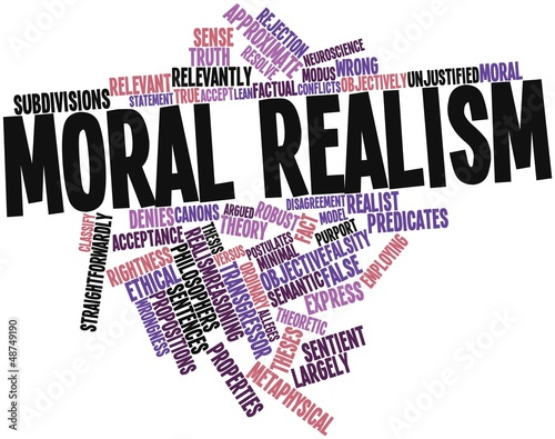 Word cloud for Moral realism
