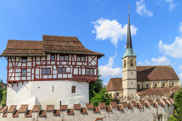 Zug Castle and St. Oswald Church, Switzerland