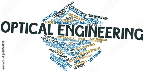 Word cloud for Optical engineering