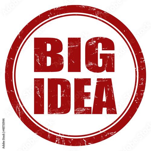 Grunge Stempel rot rund BIG IDEA