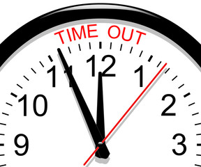 Clock. Time out