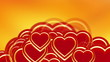Flying red hearts, wedding background animation, valentine's day