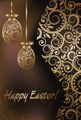 Happy Easter greeting banner, vector illustration