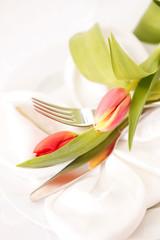 Edles Tischgedeck Frühling Ostern