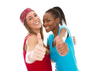 Freundinnen unterschiedlicher Herkunft  - Afrika & Europa