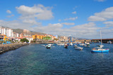 Tenerife, view of Candelaria coastline with boats