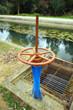 Canal de riego, compuerta para agua de regadío