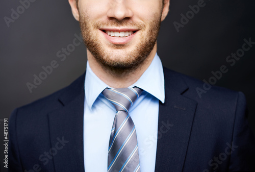 Smile of businessman